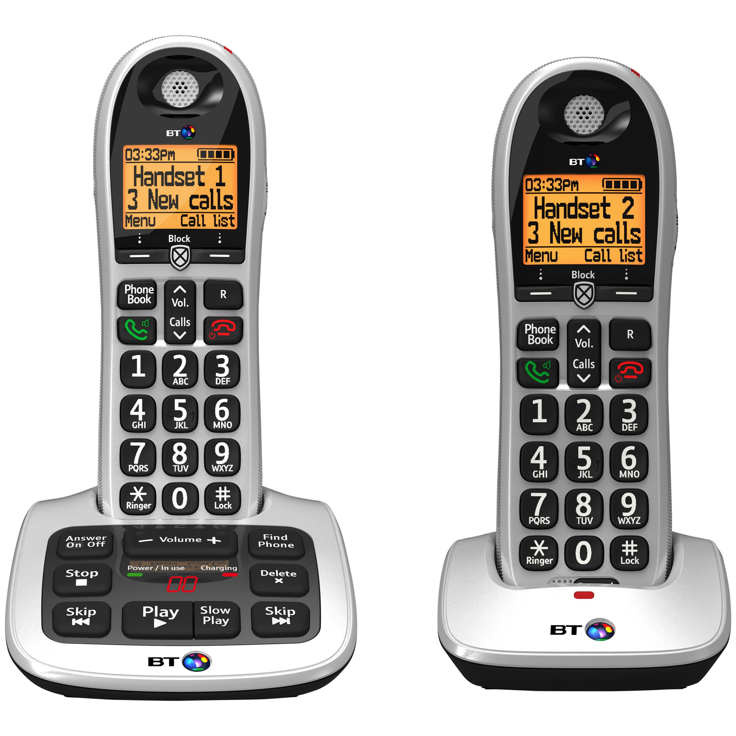 BT BT 4600 Big Button Digital Cordless Phone With Advanced Call Blocking & Answering Machine, Twin DECT