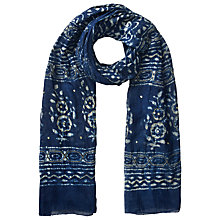 Buy East Sparkle Scarf, Indigo Online at johnlewis.com