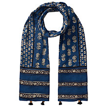 Buy East Anisha Print Scarf, Indigo Online at johnlewis.com
