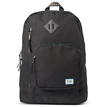 Buy TOMS Soild Ripstop Backpack, Black Online at johnlewis.com