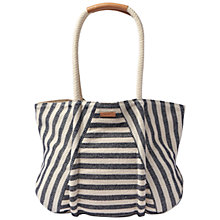 Buy TOMS Riviera Stripe Cotton Tote Bag, Navy Online at johnlewis.com