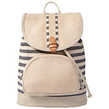 Buy TOMS Riviera Stripe Cotton Backpack, Navy Online at johnlewis.com