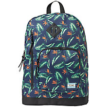 Buy TOMS Birds Of Paradise Print Backpack, Multi Online at johnlewis.com