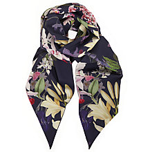 Buy Ted Baker Ainara Botanical Trail Skinny Scarf, Navy/Multi Online at johnlewis.com