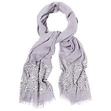 Buy White Stuff Sequin Border Scarf, Alium Purple Online at johnlewis.com