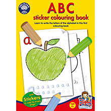 Buy ABC Sticker Colouring Book Online at johnlewis.com