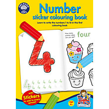 Buy Numbers Sticker Colouring Book Online at johnlewis.com
