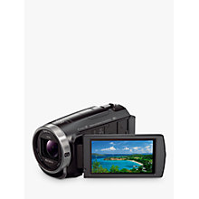 "Buy Sony CX625 Handycam With Exmor R CMOS Sensor, Full HD 1080p, 9.2MP, 30x Optical Zoom, Wi-Fi, NFC, 3"" LCD Screen, Black Online at johnlewis.com"