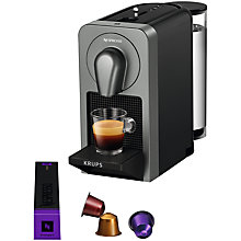 Buy Nespresso Prodigio Coffee Machine by KRUPS with Bluetooth, Titanium Online at johnlewis.com