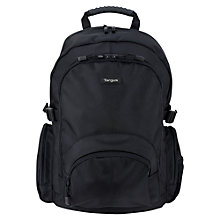 "Buy Targus Classic Backpack for Laptop up to 15-16"", Black Online at johnlewis.com"