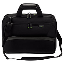 "Buy Targus EcoSpruce Topload Messenger Bag for Laptop 15.6"", Black Online at johnlewis.com"