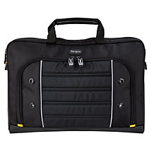 "Buy Targus Drifter Slipcase for Laptops up to 15.6"", Black/Yellow Online at johnlewis.com"