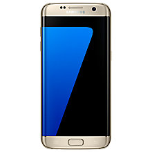 "Buy Samsung Galaxy S7 Edge Smartphone, Android, 5.5"", 4G LTE, SIM Free, 32GB, Gold and SanDisk microSDHC Memory Card, 64GB Online at johnlewis.com"