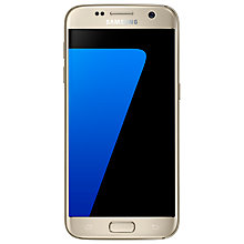 "Buy Samsung Galaxy S7 Smartphone, Android, 5.1"", 4G LTE, SIM Free, 32GB, Gold and Speck Phone Case Online at johnlewis.com"