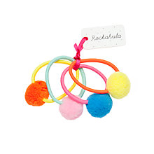 Buy Rockahula Girls' Pom Pom Hair Bobbles, Pack of 4, Multi Online at johnlewis.com