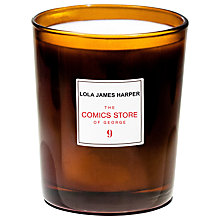 Buy Lola James Harper The Comics Store of George Scented Candle, Small Online at johnlewis.com