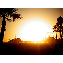 Buy Lola James Harper Santa Monica Sunset Unframed Print Online at johnlewis.com