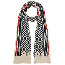 Buy John Lewis Moroccan Tile Scarf, Cream/Black Online at johnlewis.com