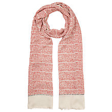 Buy John Lewis Linear Dot Scarf, Red/Cream Online at johnlewis.com