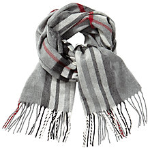 Buy John Lewis Classic Check Cashmink Scarf, Grey/Multi Online at johnlewis.com