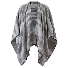 Buy John Lewis Stripe Cape, Black/Grey Online at johnlewis.com