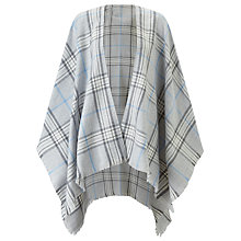Buy John Lewis Check Cape, Dove Grey/Charcoal Online at johnlewis.com