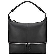 Buy John Lewis Harriet Leather Shoulder Bag, Black Online at johnlewis.com