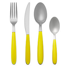 Buy House by John Lewis Vero Dandelion Cutlery Set, 16 Piece Online at johnlewis.com