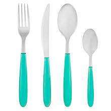 Buy House by John Lewis Vero Teal Cutlery Online at johnlewis.com