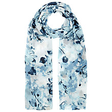 Buy Windsmoor Floral Print Scarf, Blue/Multi Online at johnlewis.com