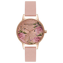 Buy Olivia Burton OB15EG43 Women's Dot Design Leather Strap Watch, Dusty Pink Online at johnlewis.com