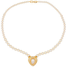 Buy Susan Caplan Vintage 1980s Napier Gold Plated Faux Pearl Necklace, Gold / Pearl Online at johnlewis.com