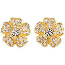Buy Susan Caplan Vintage 1980s Joan Rivers Gold Plated Swarovski Crystals Flower Clip-On Earrings, Gold / Crystal Online at johnlewis.com