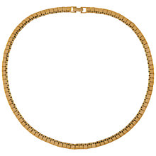 Buy Susan Caplan Vintage 1970s Monet Gold Plated Box Chain Necklace, Gold Online at johnlewis.com