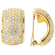 Buy Susan Caplan Vintage 1980s Dior Gold Plated Swarovski Crystals Clip-On Earrings, Gold / Crystal Online at johnlewis.com