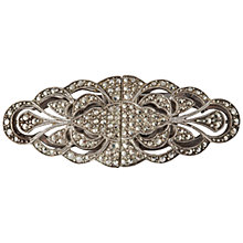 Buy Susan Caplan Vintage 1930s Sterling Silver Marcasite Duette Broach, Silver Online at johnlewis.com