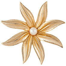 Buy Susan Caplan Vintage 1970s Sarah Coventry Gold Plated Faux Pearl Flower Brooch, Gold Online at johnlewis.com