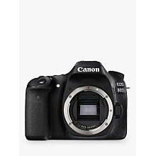 "Buy Canon EOS 80D Digital SLR Camera, HD 1080p, 24.2MP, Wi-Fi, NFC With 3"" Vari-Angle Touchscreen, Body Only Online at johnlewis.com"