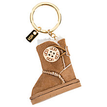 Buy UGG Bailey Boot Charm Keyring, Chestnut Online at johnlewis.com