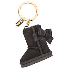 Buy UGG Bailey Bow Boot Charm Keyring, Black Online at johnlewis.com