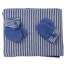 Buy Olivier Baby Cashmere Baby Blanket Gift Set, Blue Online at johnlewis.com