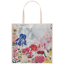 Buy Ted Baker Encyclopedia Large Icon Shopper Bag, Ivory / Pink Online at johnlewis.com