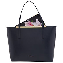 Buy Ted Baker Carenna Leather Shopper Bag, Navy Online at johnlewis.com