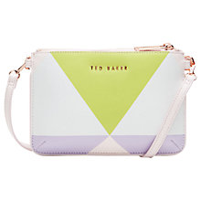 Buy Ted Baker Harlequin Leather Across Body Clutch Bag Online at johnlewis.com