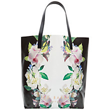 Buy Ted Baker Lindsey Forget Me Not Shopper Bag, Black Online at johnlewis.com