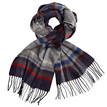 Buy John Lewis St Ives Check Cashmink Scarf, Blue/Red Online at johnlewis.com