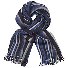 Buy John Lewis Wool Raschel Stripe Scarf Online at johnlewis.com