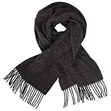 Buy John Lewis Dogtooth Check Wool Scarf, Grey Online at johnlewis.com