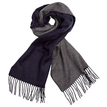Buy John Lewis Double Faced Cashmink Scarf, Navy/Grey Online at johnlewis.com