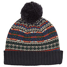Buy John Lewis Fair Isle Beanie Hat, Navy Online at johnlewis.com